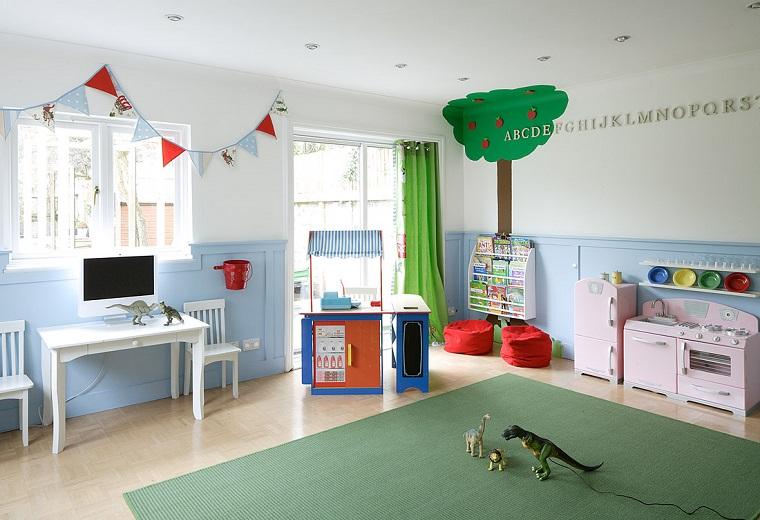entretenimiento ninos habitacion cocina rosa juegos ideas