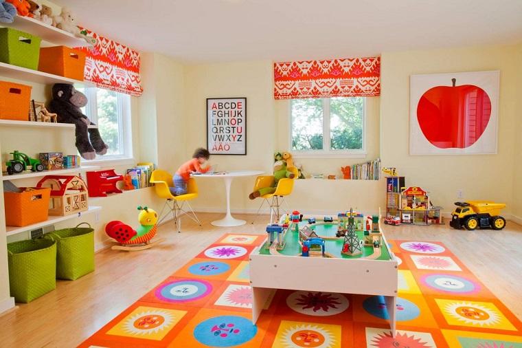 ninos habitacion cortinas alfombra interesantes ideas