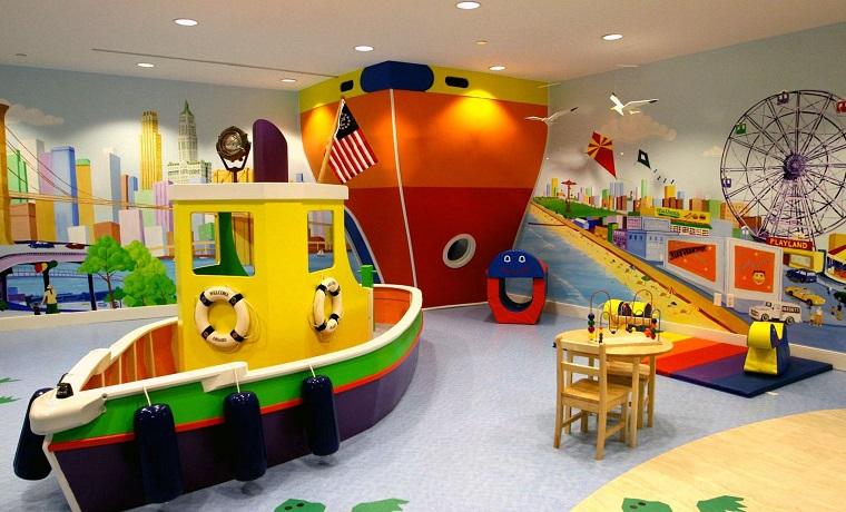 ninos habitacion juegos barco colores bibrantes ideas