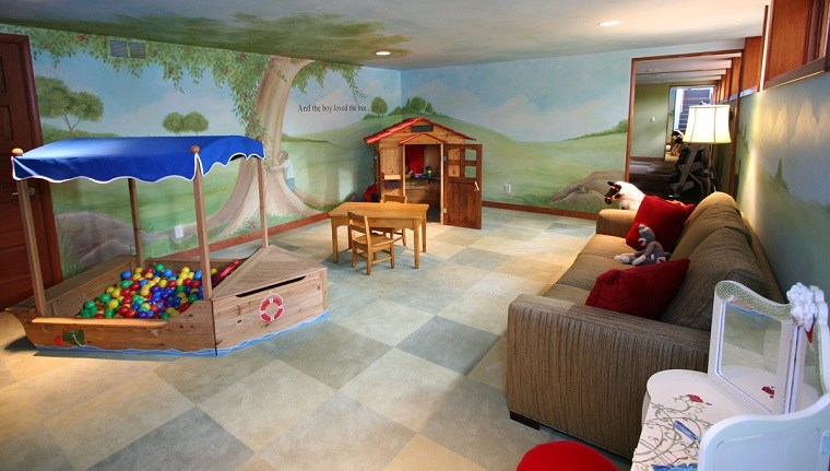 entretenimiento ninos habitacion juegos bolas mesa silla pequenas ideas