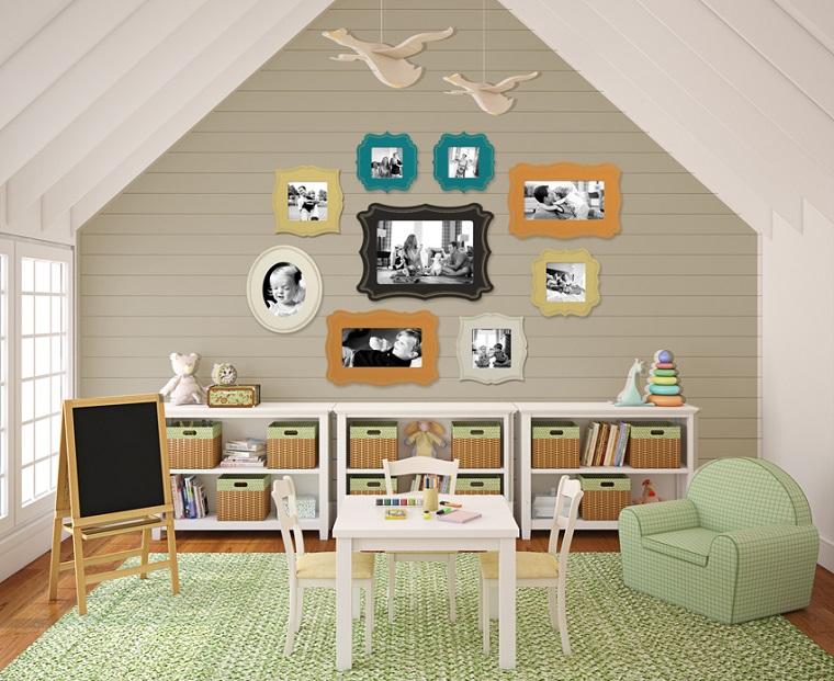 entretenimiento ninos habitacion sillon fotos pared ideas
