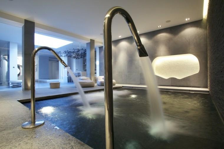 escalera interior piscina fresco atractiva