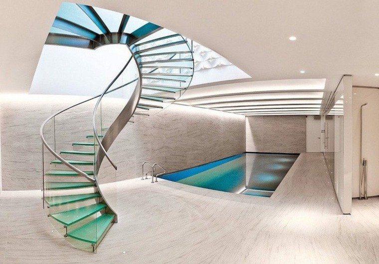 escalera moderna diseño hogar sotano