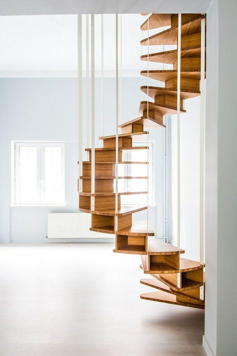 escaleras olmo diseño madera