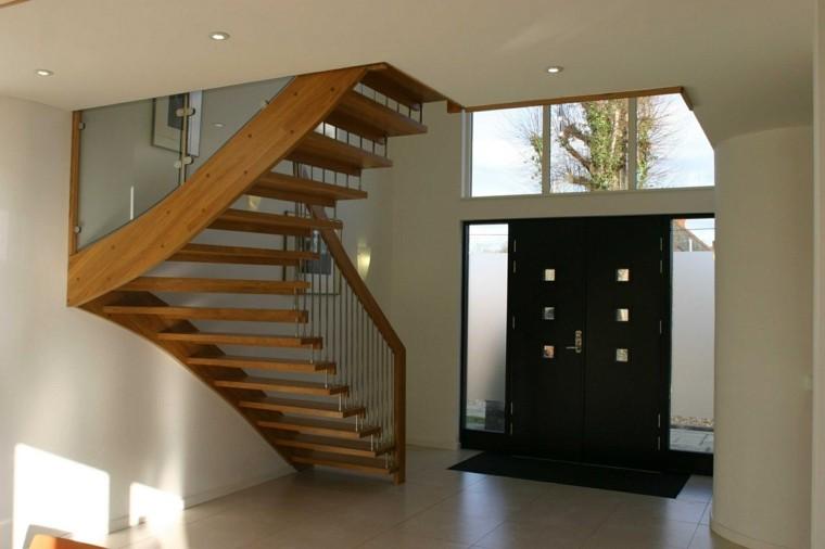 escalera madera estilo retro