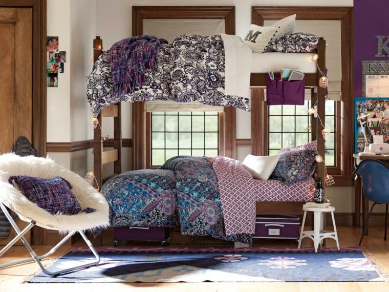 Espacio creativo, dormitorios de acento juvenil.