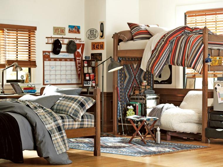 espacio estilo lamparas regulabes madera