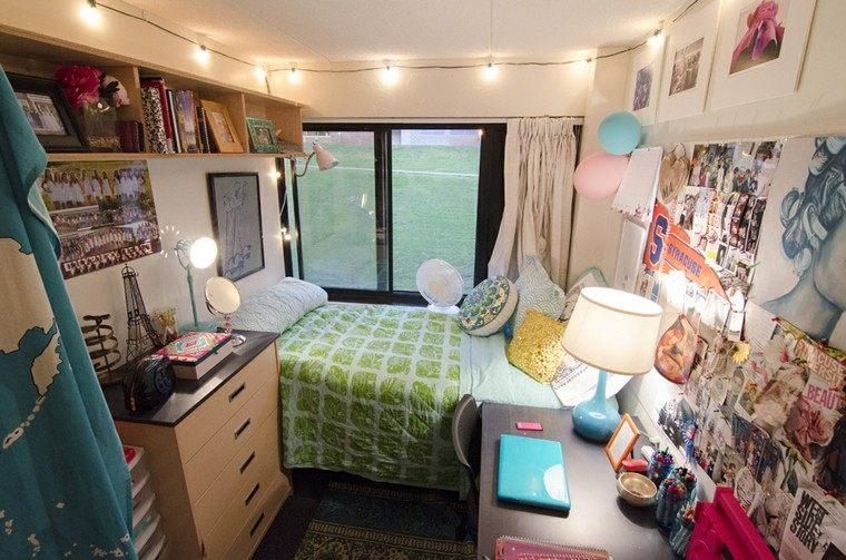 espacio pequeño cortinas diseño luces