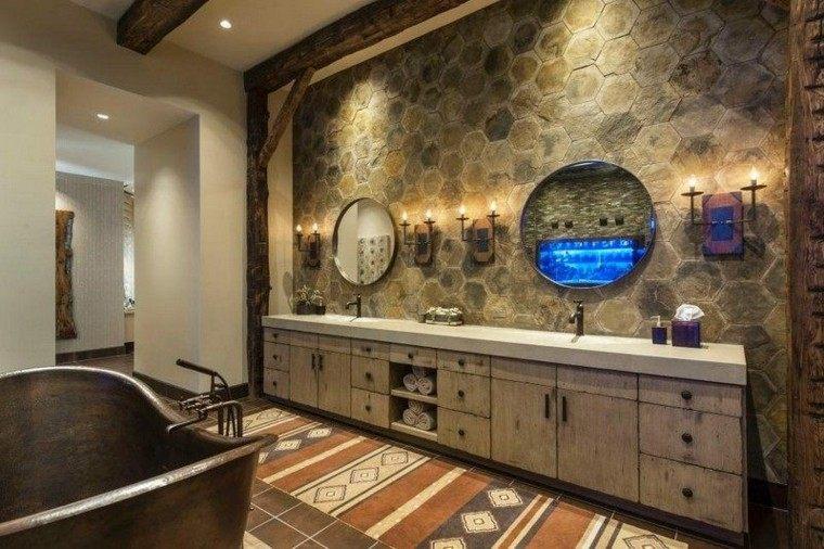 espejos muebles doble alfombra redondo