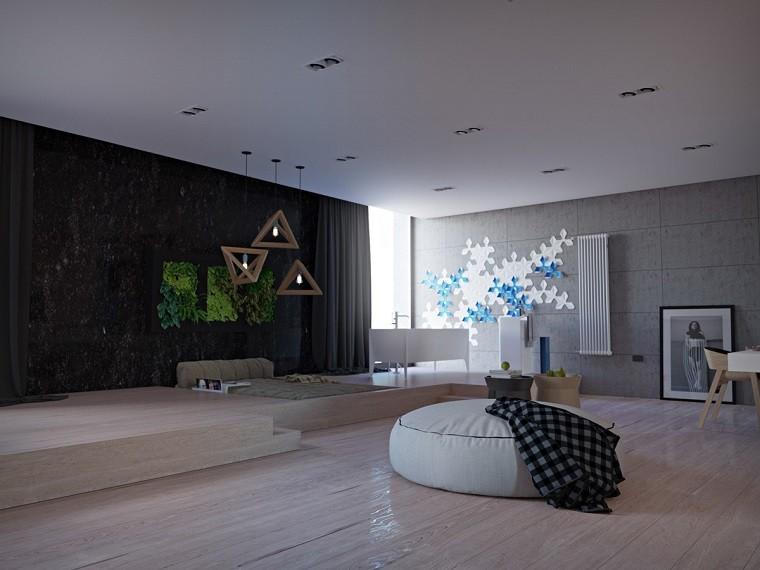 estetica funcionalidad apartamento jardin vertical pared ideas