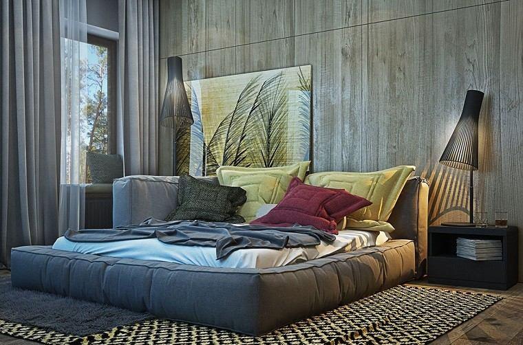 estetica funcionalidad apartamento moderno cama alfombra dormitorio