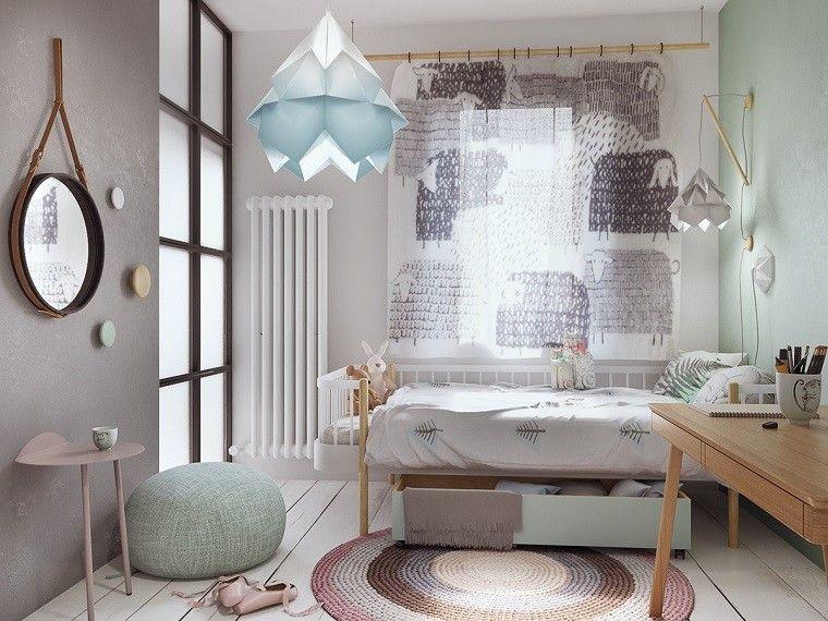 estetica funcionalidad apartamento moderno dormitorio juvenil alfombra cortina preciosa ideas