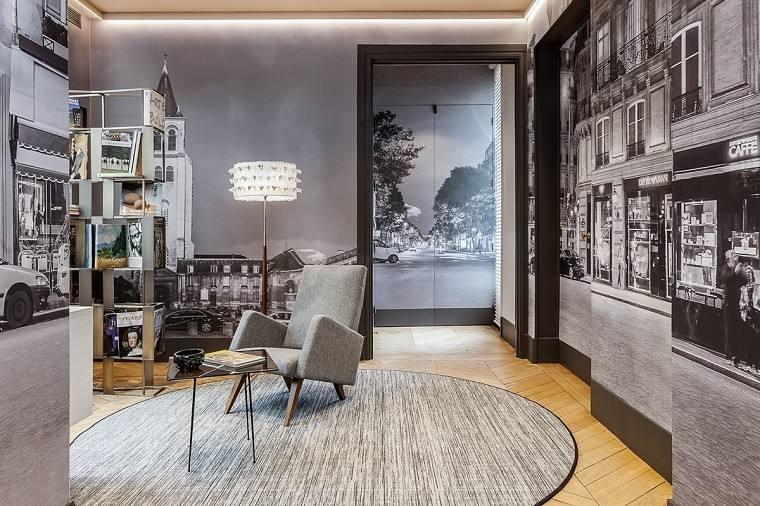estetica funcionalidad apartamento moderno foto mural precioso ideas