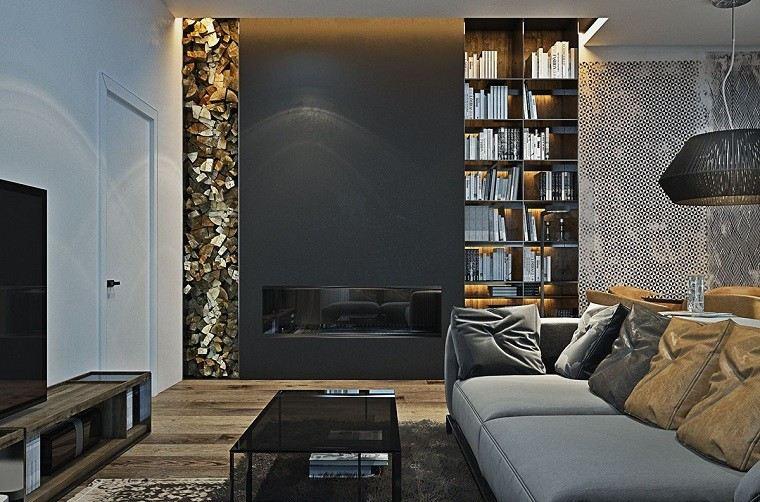 estetica funcionalidad apartamento moderno lugar lena chimenea ideas