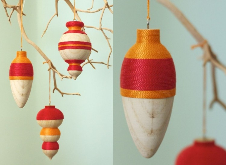estilo escandinavo decoracion navidad adornos rojo naranja ideas