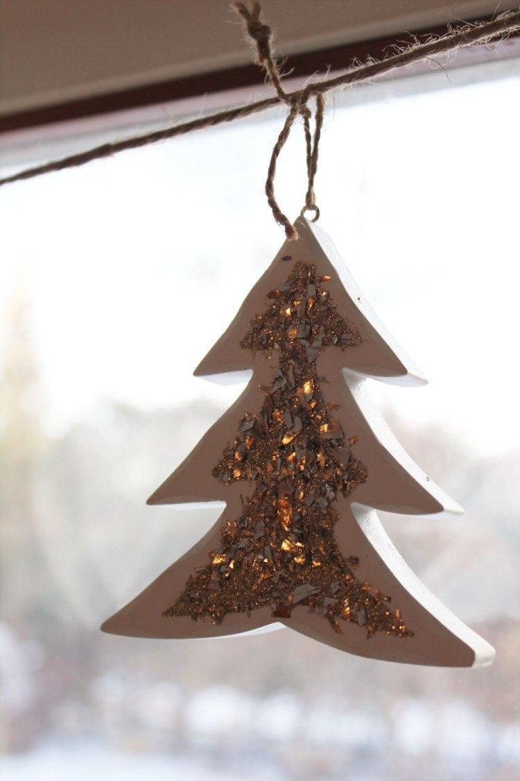 estilo escandinavo decoracion navidad arbol brillante ideas