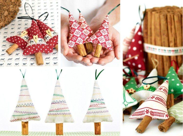 estilo escandinavo decoracion navidad arboles tela ideas