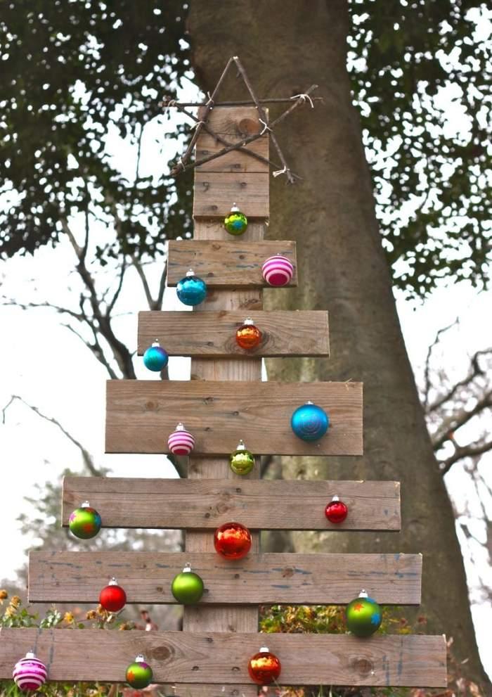 decoracion navideña estilo escandinavo bolas colores decorando ideas