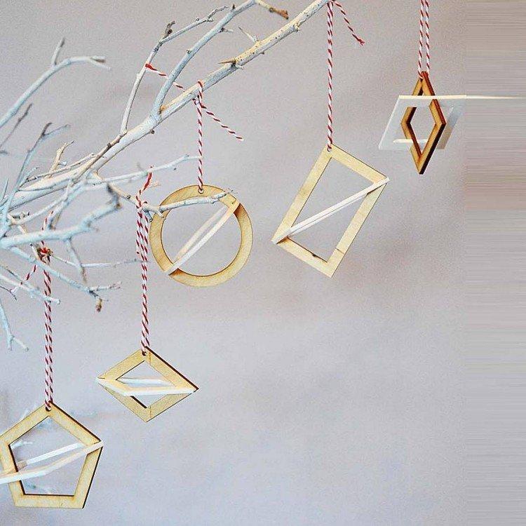 estilo escandinavo decoracion navidad circulos cuadrados ideas