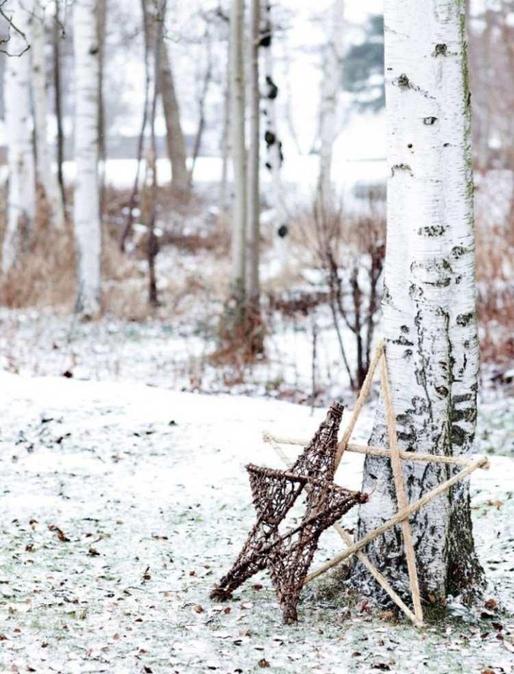 estilo escandinavo decoracion navidad estrellas grandes ideas