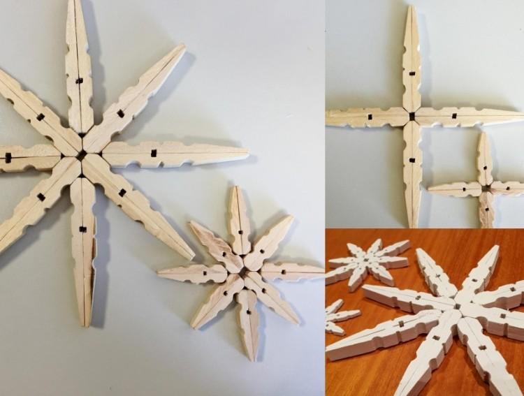 estilo escandinavo decoracion navidad estrellas madera ideas