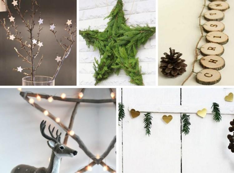 estilo escandinavo decoracion navidad estrellas originales ideas