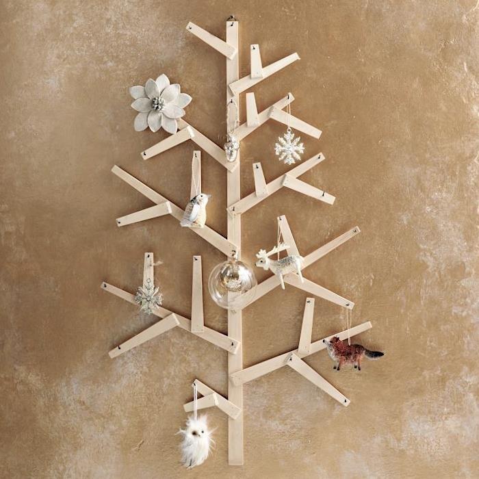 estilo escandinavo decoracion navidad flor bola cristal ideas