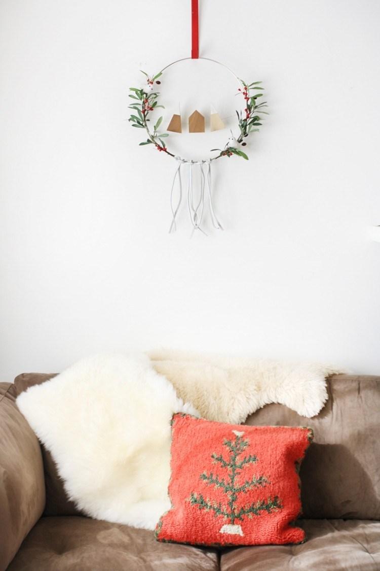 estilo escandinavo decoracion navidad guirnalda sutil ideas