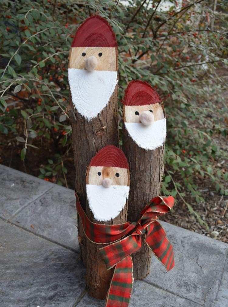 estilo escandinavo decoracion navidad papa noel madera ideas