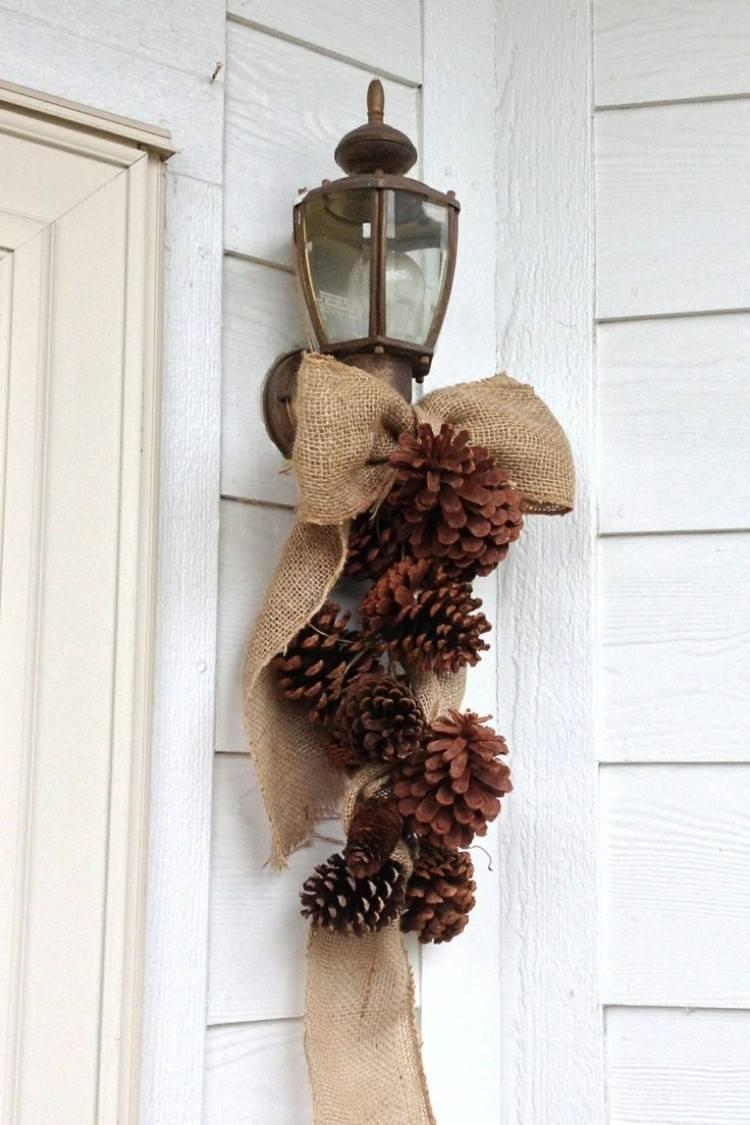 estilo escandinavo decoracion navidad pina puerta ideas
