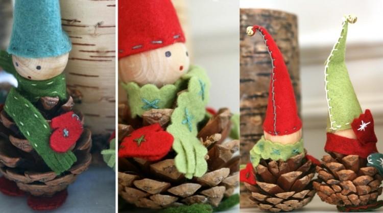estilo escandinavo decoracion navidad pinas tela ideas