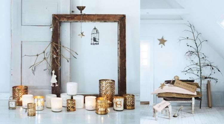 estilo escandinavo decoracion navidad velas rama arbol ideas