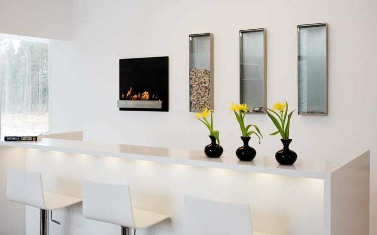 estilo flores amarillo negro jarron minimalista