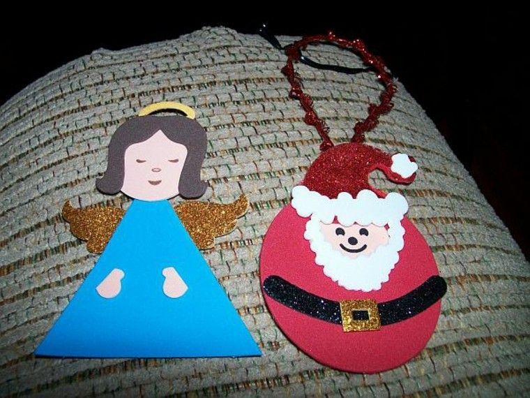 estilo santa angel niña carton