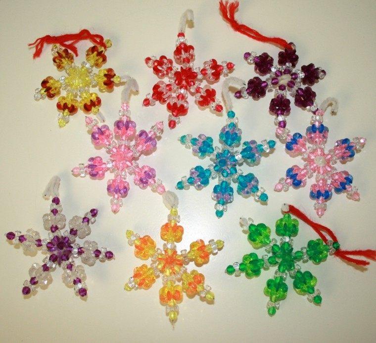 estrellas navidad bolitas colores copos