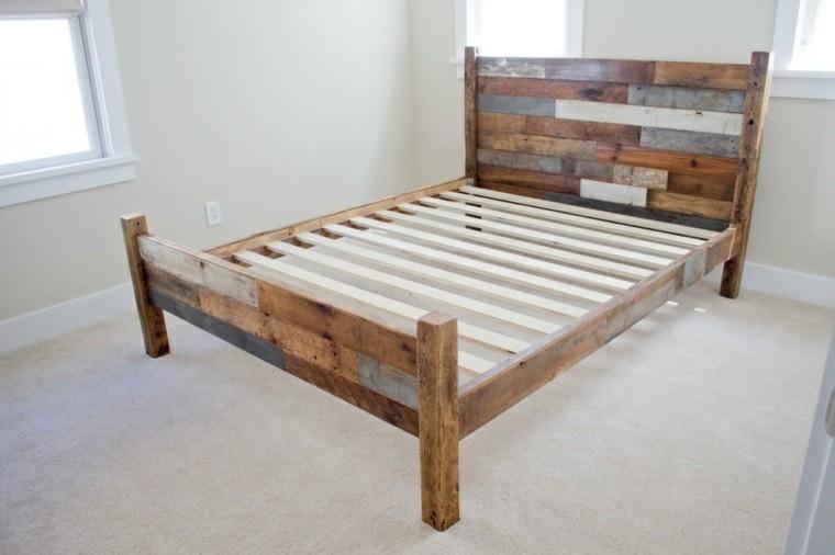 estructura cama palet madera cabecero