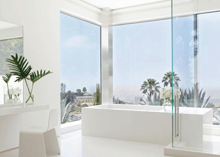 estupendo diseño baño blanco vistas