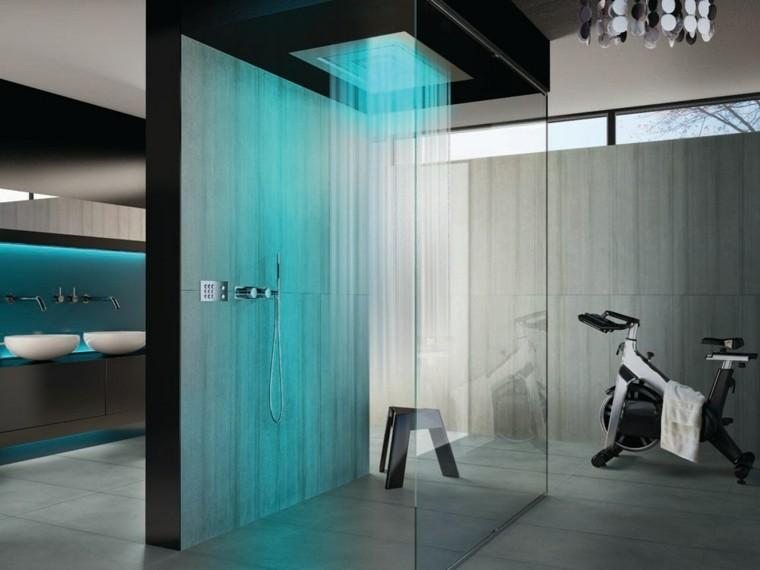 Awesome Bathroom Amazing Gold Bathroom Light Fixtures With: Baños Modernos Con Ducha