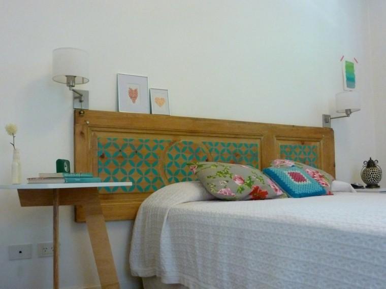 estupendo diseño cabecero cama retro