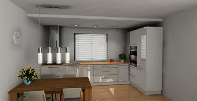 estupendo diseño cocina blanca moderna