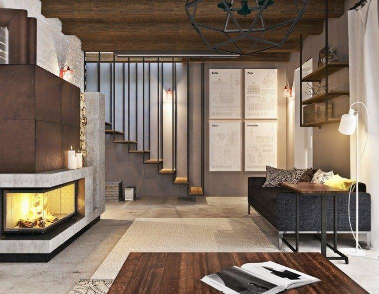 estupendo diseño salon industrial