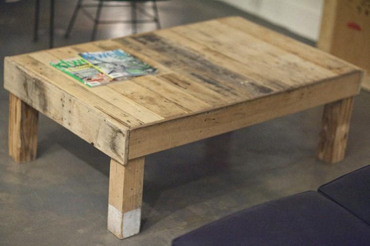 estupendo diseño mesa palet