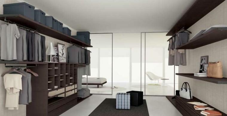 estupendo vestidor amplio madera laminada