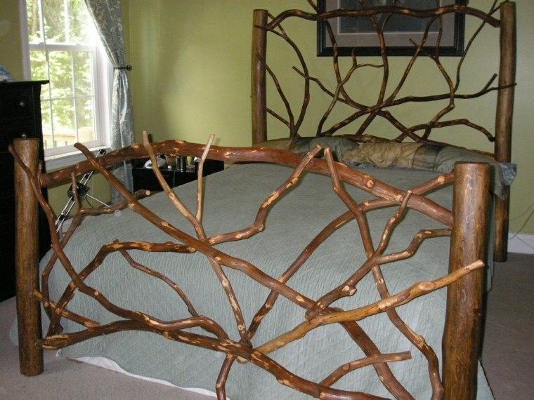 estupendo diseño cama madera natural