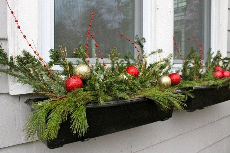 Adornos de navidad, variante para exterior de ventana