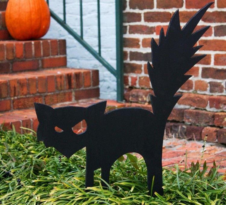 exteriores gato negro metal calabaza