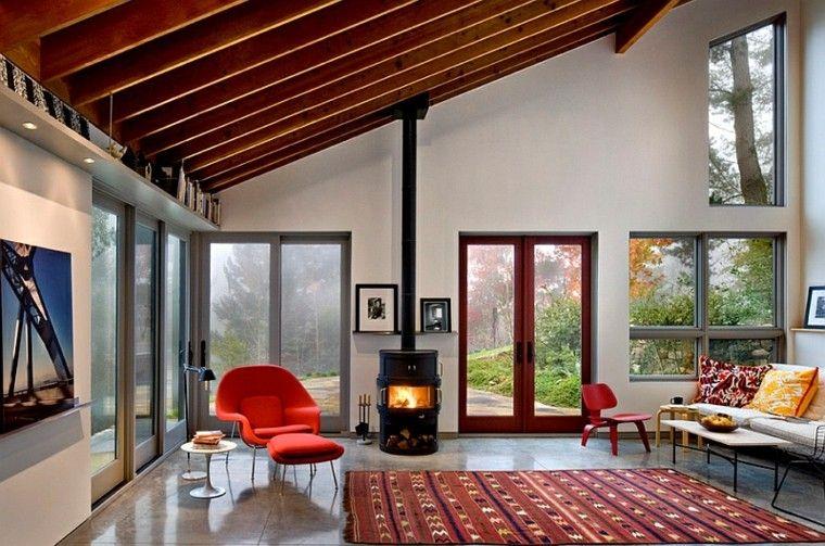 Falso techo de dise o moderno cincuenta modelos for Falso techo rustico