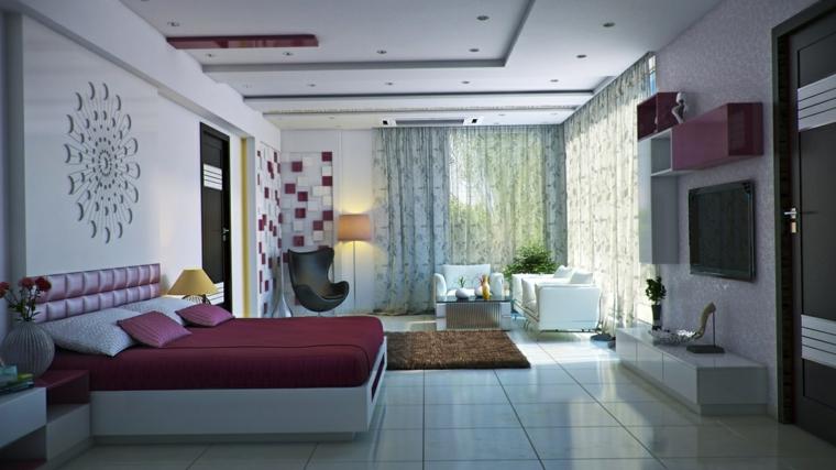 femenina decoracion habitacion abierta cojines