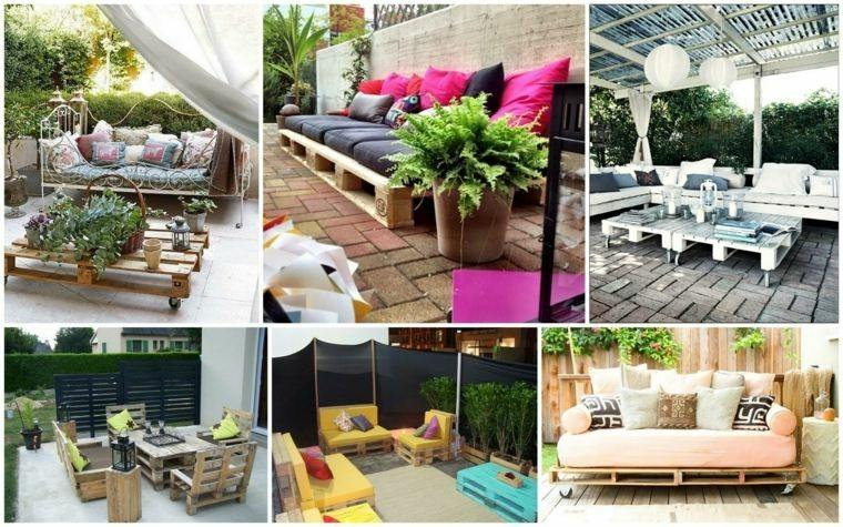 foto collage muebles pallet madera