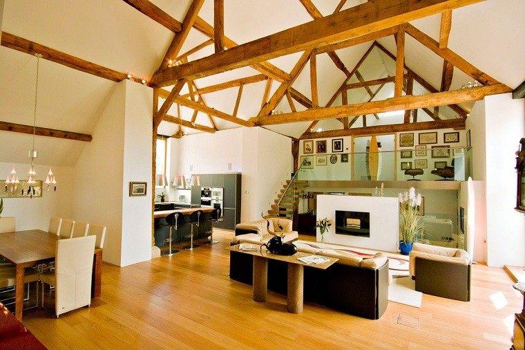 foto cuadros pared mesa preciosa salon abierto cocina comedor ideas